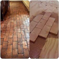 Recycled Leather Floor Tiles Floor Made Using End Pieces Of 2x4s Would Need To Grout Or Caulk