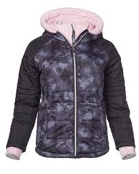 Girls Sleek Quilted Bib Puffer Jacket