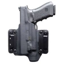 blackpoint tactical leather wing light mounted holster for glock 19 23 w streamlight trl 1 right