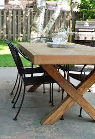 Wooden Diy Outdoor Table Free Plans diyoutdoortable diyprojects diyideas diyinspiration diycrafts diytutorial Pinterest Diy Outdoor Table Outdoor Diy Inspiration Diy Outdoor Table Diy