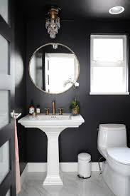 Chic black powder room design by Chrissy Cottrell: Chrissy & Co Vancouver