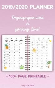 Hourly Planner 2020 2019 2020 Ieder Uur Week Planner Afdrukbare Agenda Week