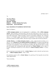 Sample Cover Letter For Us Business Visa Cover Letter