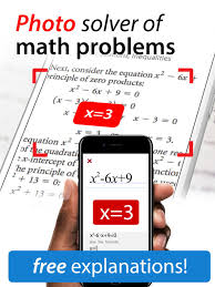 photo solver of math problems on the app