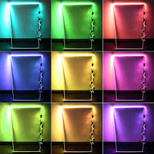 Led Rgb Glass Edge Lighting Clips Rgb Led Glass Edge Lighting Kit 4pcs Rgb Led Glass Shelf