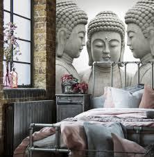 Vlies Fotobehang Grijze Boeddha Beelden