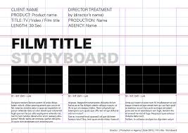 Film Template For Photos Storyboard Templates Film Storyboards