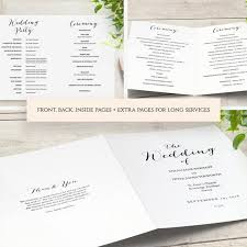 Booklet Program Template Booklet Wedding Program Template Church Order Of Service Printable Templates Multiple Page Booklet Sweet Bomb Edit In Word Or Pages