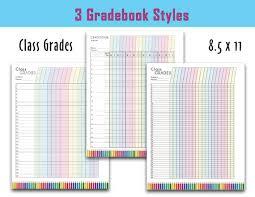 Colorful Teacher Grade Sheet Printable Grade Log Teacher Etsy