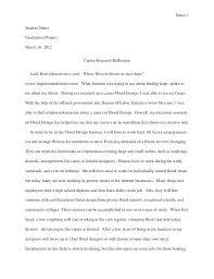 Reflective Essay Outline Template Reflection Paper Short