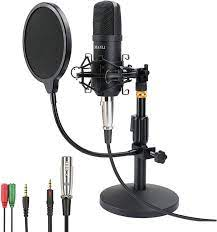 Mikrofon,MANLI Kondensator Microphone mit Tischständer& Popfilter, PC  Mikrofon für Streaming, Podcasting, YouTube, Voice-Over, Skype, Twitch,  Discord, kompatibel mit Laptop Desktop(192KHZ/24Bit) : Amazon.de:  Musikinstrumente & DJ-Equipment