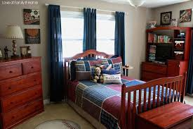 Wonderful Blue Curtains For Boy Room Astounding Boy Bedroom Decoration With  Dark Brown Wood Bed