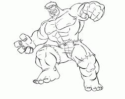 Hulk Coloring Pages Printable Strong Great Hulk Coloring Page