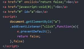 should i use or javascript void 0