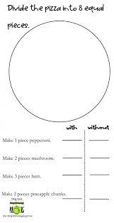worksheet 564729 pizza fraction worksheets 564730 pdf piz ...