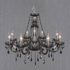 warm and lavish 255high 8 light smoke grey crystal chandelier regarding amazing home smoke crystal chandelier remodel