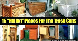 outdoor garbage can shed storage designs intended for trash ideas plan enclosure plans wooden