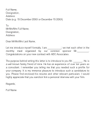 Formats For Cover Letters Letter Of Introduction Templates Examples