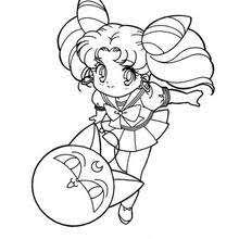 Small Picture Sailor moon in her school uniform coloring pages Hellokidscom