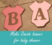 Onesie Template Make Onesie Banner For Baby Shower Homemade Baby Shower Decoration