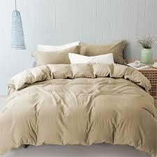 image is loading 3 pc linen cotton duvet set natural king