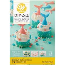 Printable Wilton Tip Chart Mermaid Cupcake Kit