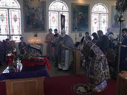 sharon pa archbi daniel leads services for the sunday of the cross at st john the baptist ukrainian orthodox church