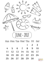 june 2017 calendar coloring page free printable coloring pages