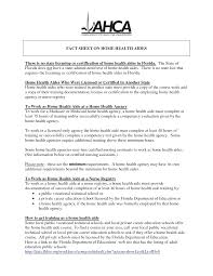 Home Health Aide Resume Template Home Health Aide Resume Objective Examples Description No Experience 5