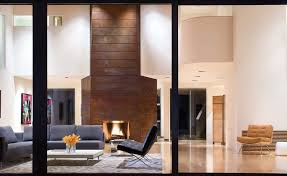 rust living room living room contemporary with modern fireplace wooden standard height dining tables