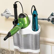 hair dryer caddy curling iron suction hair appliance holder