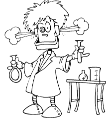 Small Picture Science Coloring Page 6599