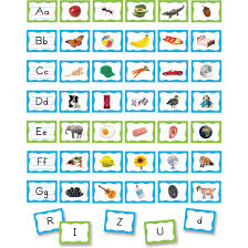 Letters And Sounds Chart Alphabet Pocket Chart Cards By Teacher Created Resources