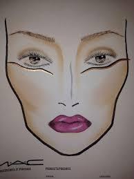 stroke of midnight inspired facechart by ellen sijm mac cosmetics schiphol airport