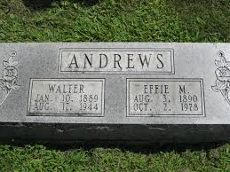 Effie Mae Sunday Andrews (1890-1978) - Find A Grave Memorial