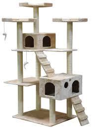 Amazon Go Pet Club Cat Tree 50W x 26L x 72H Beige Pet