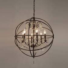glass orb lighting. elegant orb light chandelier foucaults crystal iron 6 free shipping glass lighting