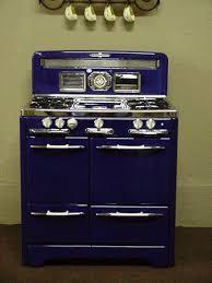 cobalt blue o keefe merritt antique gas stove