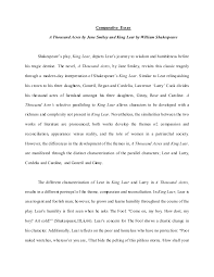 king lear essay questions okl mindsprout co comparative essay a thousand acres and king lear