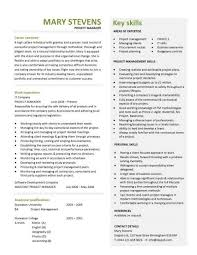 Project Management Resume Template Manager Cv Construction Jobs