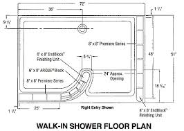 Glass Block Shower - Walk In Floor Plan