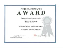 Attendance Certificates Printable Perfect Attendance Certificate Template Gift Doc24 Free 12