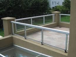 Barandilla De Vidrio  De Aluminio  Con Paneles De Vidrio  De Barandillas De Aluminio Para Exterior