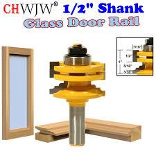 1 pc 1 2 shank glass door rail stile reversible router bit wood cutting tool woodworking router bits chwjw 12122 malaysia senarai 2019