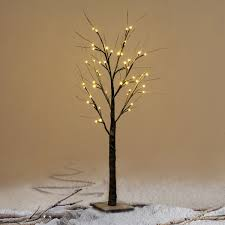 Costway 4Ft Christmas Xmas Brown Birch Snow Tree LED Light Warm Decorative  Festival Party - Free Shipping On Orders Over $45 - Overstock.com - 24265261