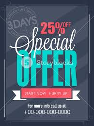 Special Offer Flyer Special Offer For 3 Days Only Flyer Banner Or Template