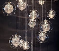 blown glass pendant lights lighting for kitchen steel blue unique interior
