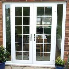 white french doors with side panels