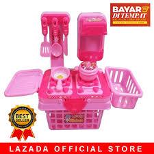 jawa barat hoha my lovely kitchen set 901k pink mainan masak masakan mainan anak perempuan