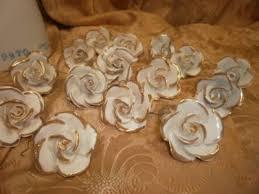 italian porcelain roses for capodimonte chandelier prism drops 15 vintage